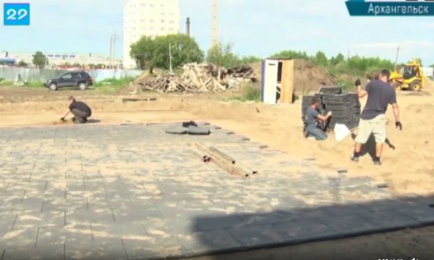 Строители выбиваются изграфиков возведения социальных объектов вАрхангельске