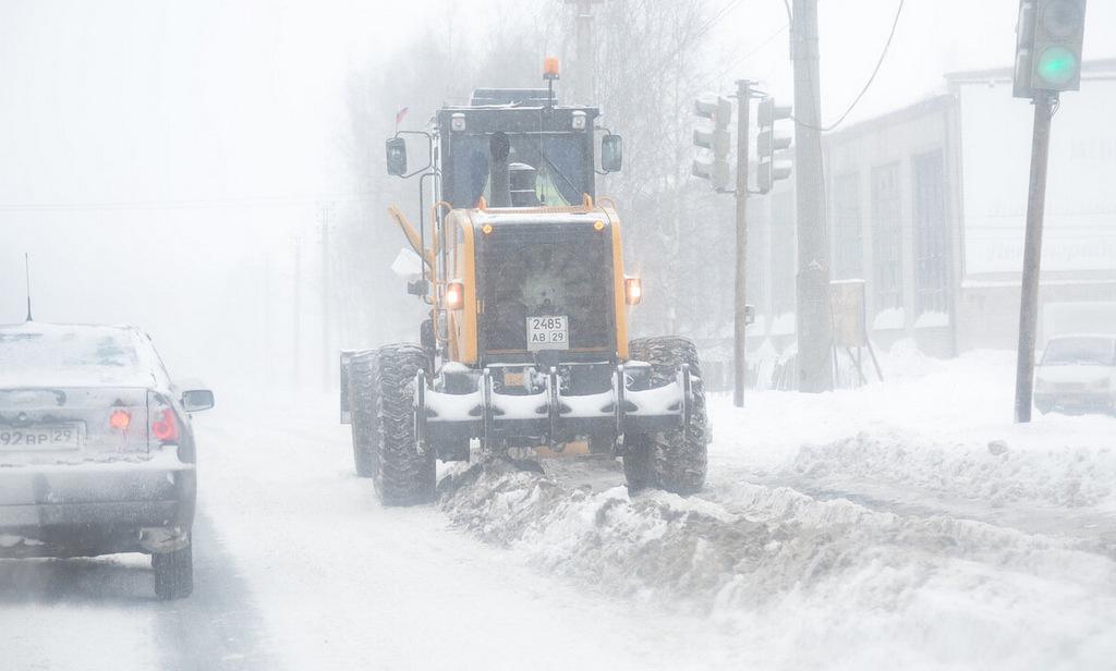 Архангельские дорожники готовятся к снежному шторму
